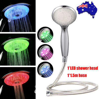 AU18.99 • Buy Wels Single Hand Held Shower Head Spray Replacement 1.5m Hose Set 3 Light Colors