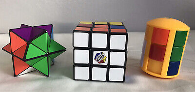 Authentic  Rubik's Cube Cylinder And Star Puzzle 1980's • 2.99£