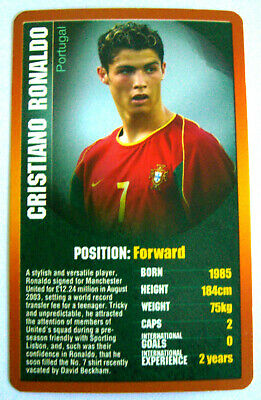 TOP TRUMPS 2003/04 European Football Stars CRISTIANO RONALDO (Portugal) • 29.99£