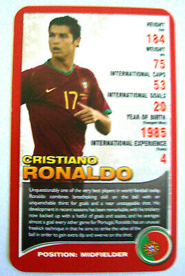 TOP TRUMPS 2008 European Football Stars CRISTIANO RONALDO (Portugal) • 29.99£
