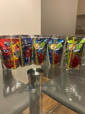 Kool-Aid Jammers, Blue Raspberry, Rock-a-dile Red, Tropical, Apple, US Import • 5.70£