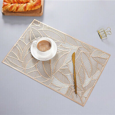 AU12.79 • Buy Place Mats Set Chargers Washable Dining Placemats Table Wedding Party Mat Pack