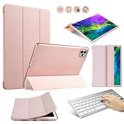 For Apple IPad Pro 12.9  2020 4nd Gen Leather Stand Cover + Wireless Keyboard • 25.61£