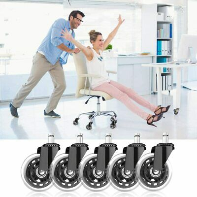 AU26.99 • Buy 5Pcs 3  Office Chair Caster Wheels Swivel Heavy-Duty Replacement For Most Chairs