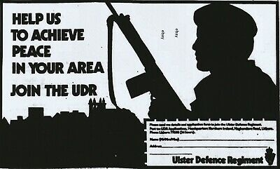 New A4 Print Ulster Defence Regiment Udr N Ireland Army Op Banner 1970's 3 • 2.99£