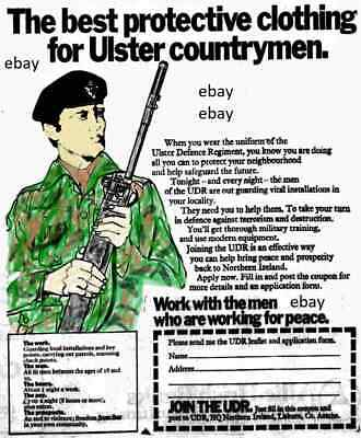 New A4 Print Ulster Defence Regiment Udr Northern Ireland Army Op Banner 1970's • 2.99£