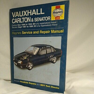 Vintage Haynes Service And Repair Manual Vauxhall Carlton & Senator 1986 To 1994 • 2.60£