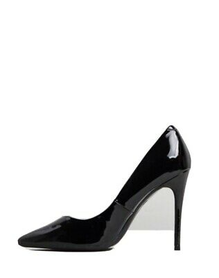 Missguided Black Patent Entry Court Shoes/Stilettos Size 6 • 4.99£