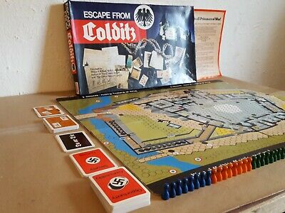 Escape From Colditz Board Game Gibson's Box Repairied With Complete Contents  • 34.99£