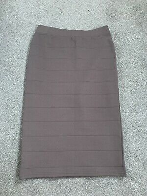 River Island Size 10 Bodycon Tight Fitting Figure Grey Skirt Bandage Material • 4.99£