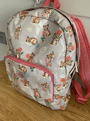 Cath Kidston Oil Cloth Girls Kitten Print Back Pack • 0.99£