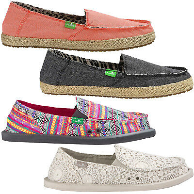 Sanuk Sidewalk Surfer Damen-Slip Ons Loafers Summer Shoes Canvas Shoes • 28.16£