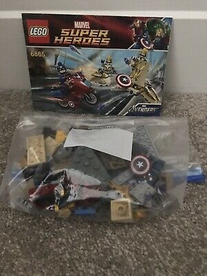 Lego 6865 Marvel Captain America's Avenging Cycle Complete - 99% Complete • 5£