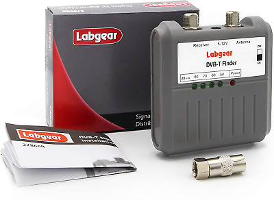 Labgear 27866R DVB T Signal Strength Finder Freeview HD TV Aerial Meter Tester • 13.99£