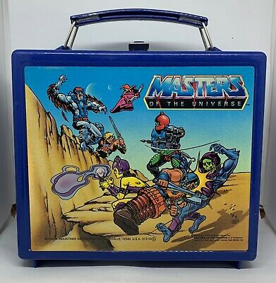 $13.50 • Buy Masters Of The Universe HE-MAN Vintage Plastic LUNCHBOX W/ Thermos 1983 Aladdin