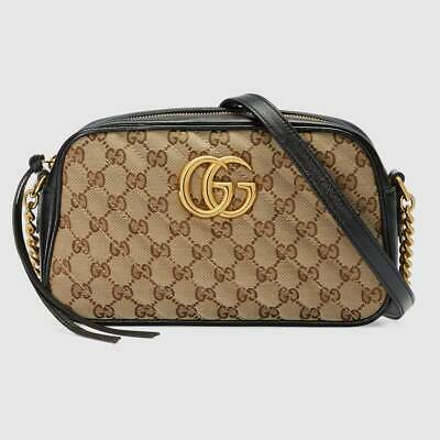 AU1023.18 • Buy Gucci 447632 Gg Marmont Small Shoulder Bag Beige