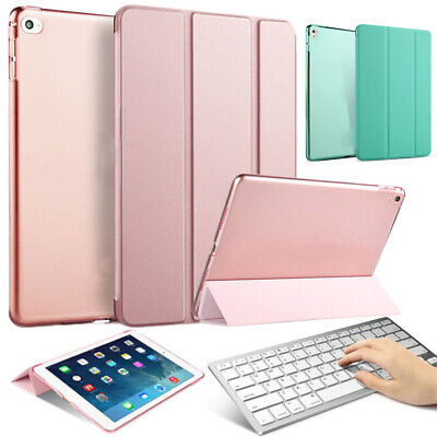 Wireless Keyboard Cover Smart Leather Tablet Stand Case For Apple IPad 10.2 2019 • 13.67£