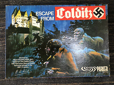 Vintage Escape From Colditz Board Game 1973 PARKER Edition - Complete • 32.50£