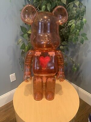 $3000 • Buy Bearbrick Emotionally Unavailable Clear Red Heart 1000% In Hand