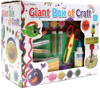 Giant Box Of Craft 1000 Pieces Kids Crafts Bits Arts And Crafts Set Great Fun • 16.13£
