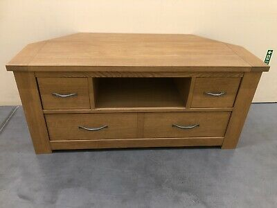 Next Cambridge Solid Oak Corner TV Unit Delivery Available 🚚 • 225£