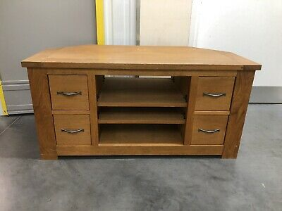 Next Cambridge Solid Oak Corner Tv Unit Oak Delivery Available 🚚 • 225£