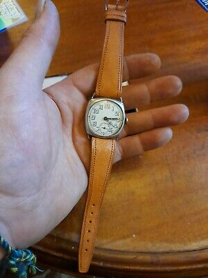 1920s Sterling Silver Trench Watch • 260£