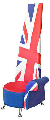 £949 • Buy Superb Custom Made Union Jack Potenza Chair Made In England Almost 2 Meters High