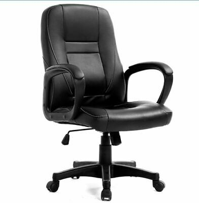 Cherry Tree Furniture Swivel Perforated PU Leather Black Color Office Chair • 50£