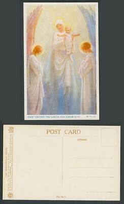 Margaret W Tarrant Old Postcard Thou Visitest The Earth & Blesseth It Devotional • 5.99£