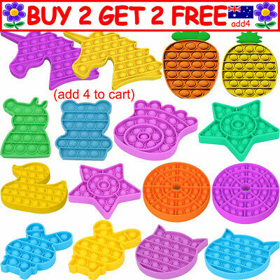 AU11.18 • Buy Pop Its Square Fidget Toy Push Bubble Stress Relief Kids Tiktok 2021 Gift TT AU