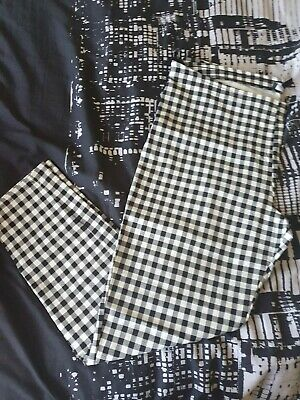 Ladies Skinny Check Trousers Size 20 • 9.99£