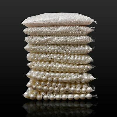 $ CDN3.24 • Buy Loose Round White Or Beige Pearl Beads For DIY Fashion Jewelry Making Art Crafts