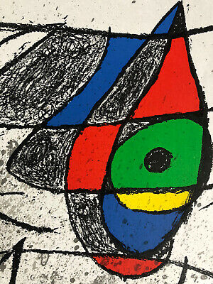 £90 • Buy JOAN MIRO Original Double Page Lithograph Galeries Maeght 1972