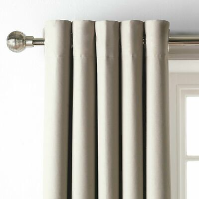 £24.50 • Buy Home 168 X 229cm Blackout Eyelet Curtain Mocha Free Delivery *Seconds*