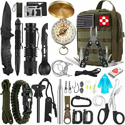 AU64.99 • Buy 32Pcs Emergency Survival Equipment Kit Outdoor Sports Tactical Camping Tool Set