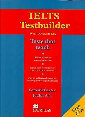 IELTS Testbuilder - Book With Audio-CDs (With Key): Pack (with Key), Sam McCarte • 5.79£