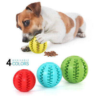 £3.09 • Buy Pet Dog Puppy Rubber Ball Rubber Ball Teething Durable Treat Clean Chew Toy HOT