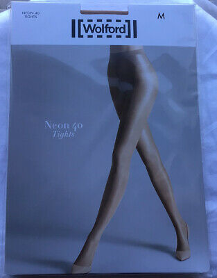 WOLFORD Neon 40 Tights Gobi - Size M - Brand New In Box - Worldwide Shipping • 21.85£