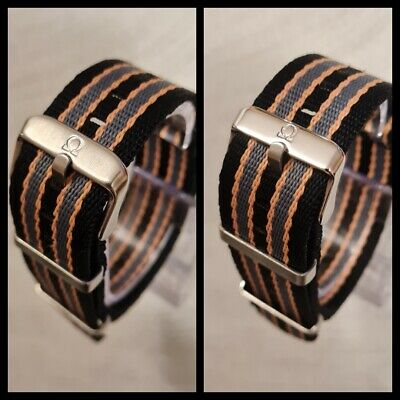 20mm 22mm Nylon Greek Omega Watch Strap Band James Bond No Time To Die 007 Style • 18.99£