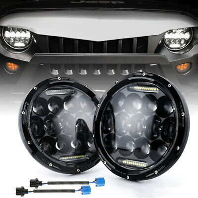 AU76.99 • Buy 7 Inch LED Headlights Projector Halo DRL Motorcycle Turn Light Fit For GQ PATROL