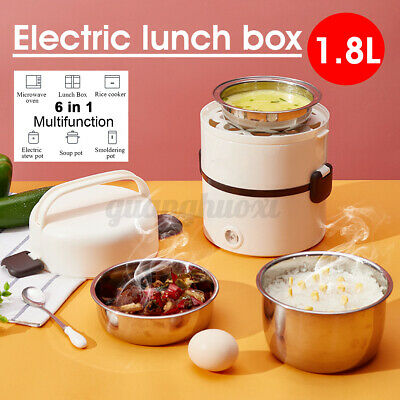 AU25.89 • Buy Portable Electric Lunch Box 3-layer Steamer Rice Cooker Warmer Steamer