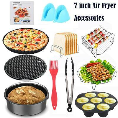 AU54.17 • Buy 15Pcs Set 7  Air Fryer Accessories Rack Cake Pizza Oven Barbecue Frying Pan Tray