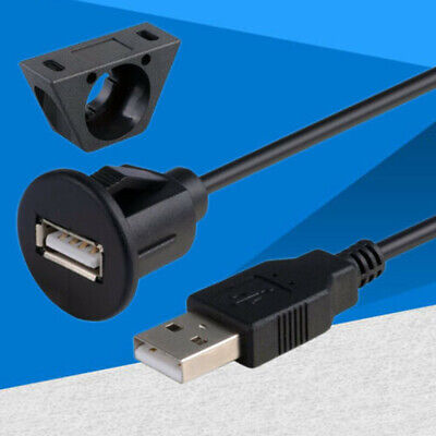 AU11.39 • Buy 1m/2m USB2.0 Extension Data Cable Male To Female Cord Car Dash Board Flush Mount
