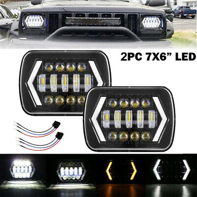 AU88.99 • Buy Pair 5x7'' 7x6'' LED Headlights DRL For 88-97 Toyota Hilux Pickup Jeep Cherokee