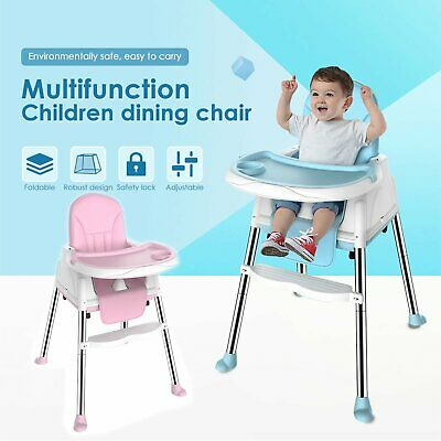 3-In-1 Adjustable Baby Highchair Infant High Feeding Seat Toddler Table Chair UK • 38.99£