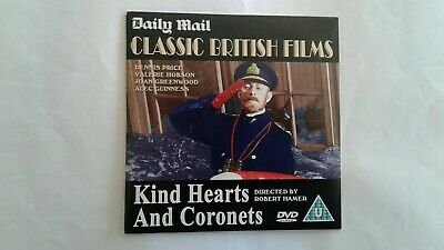 Kind Hearts And Coronets Dvd New Condition Played Once Only • 1.50£