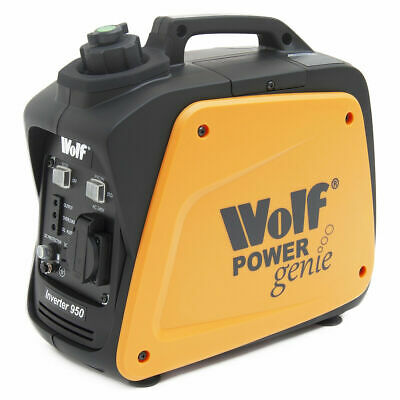 Wolf 800w 2.6hp 4 Stroke Petrol Inverter Suitcase Portable Generator 240v 777 • 179£