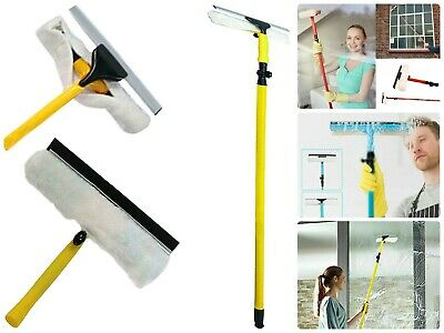3.5M Extendable Telescopic Window Dust Glass Cleaner Kit Squeegee Pole Brush New • 15.79£