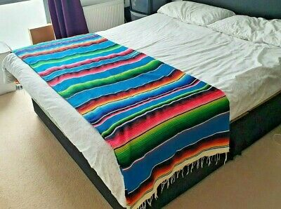Traditional Mexican Serape | Blanket, Throw | Made In Mexico | • 24.99£